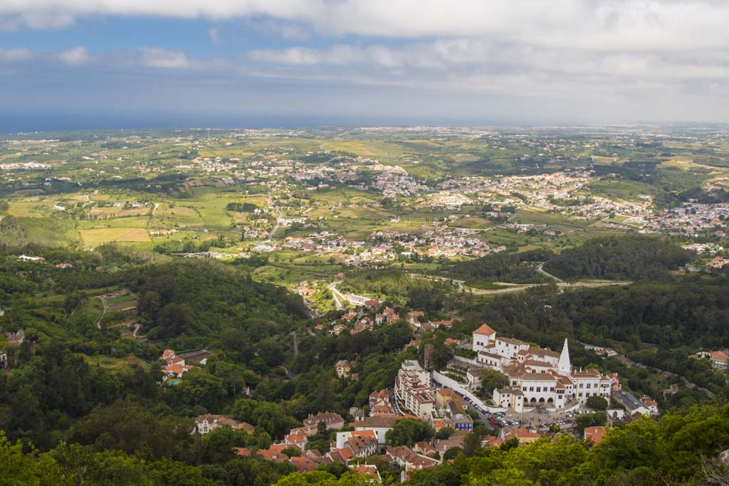 View from The Catle of the Moors at Sintra 30 May 2014 - 1