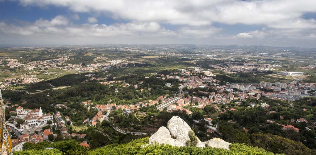 View from The Catle of the Moors at Sintra 30 May 2014 - 4