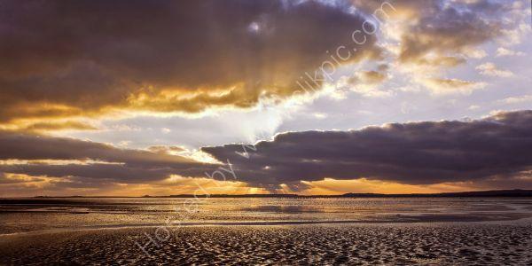 Sunrise Holy Island Bay