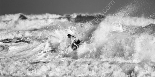 Surfer in a Storm