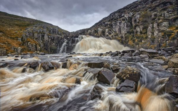 Waterfall in Teesdale.