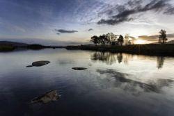 Cloud relection on Rannoch Moor