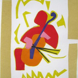 Cellist collage