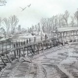 Molesey Weir, Alfred Sisley's 1874 viewpoint