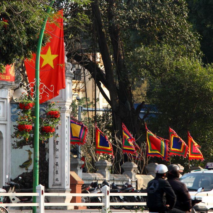 Pagoda flags