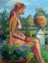 Silvina in the Formal Garden