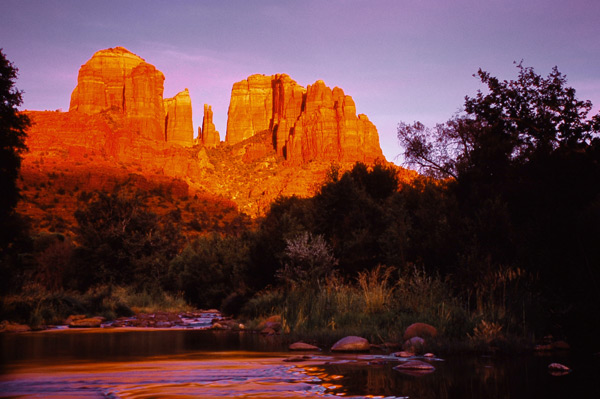 Cathedral Rock au coucher de soleil 2 - Sedona, Arizona