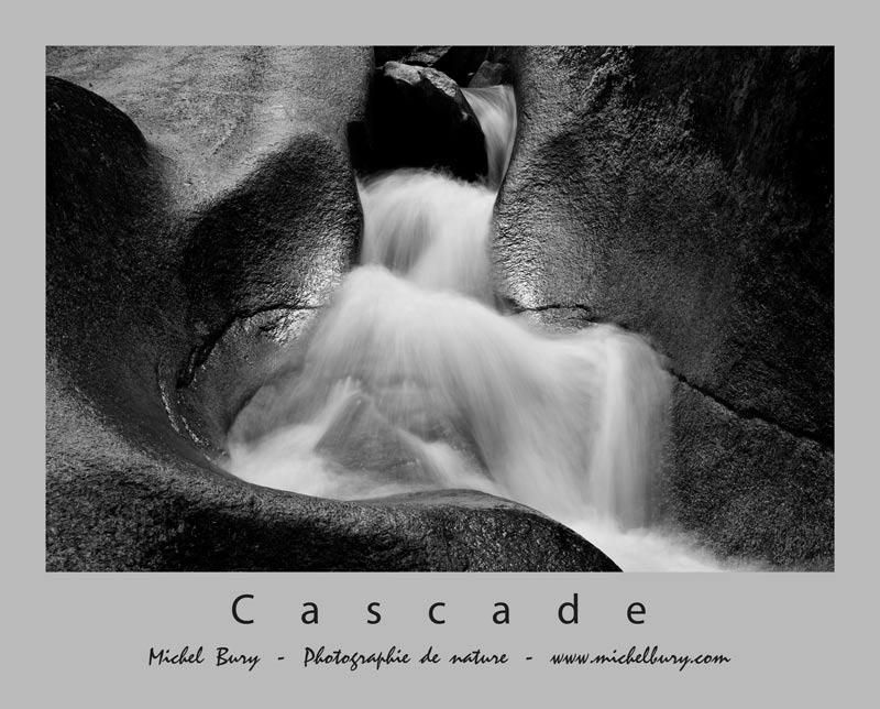 Glissade d'eau - Détail - N/B - Affiche