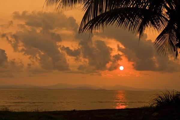 Coucher de soleil sur le Golfe Nicoya