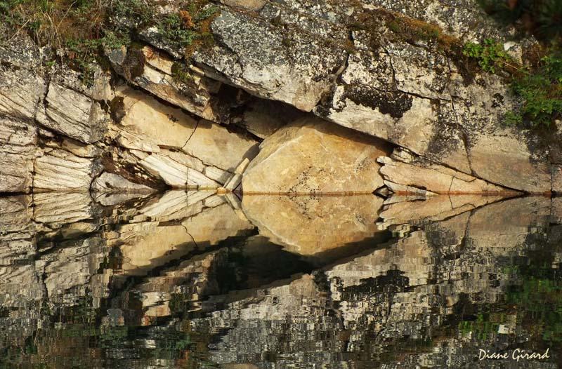 Reflet de falaise