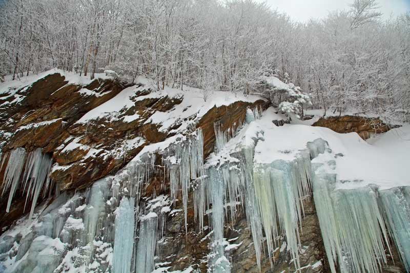 Les grandes orgues - Falaise de glace