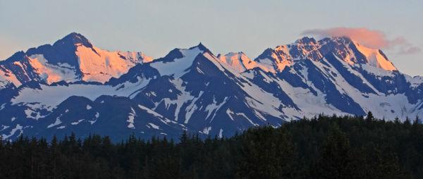 Chaîne des Chilkoot au coucher de soleil