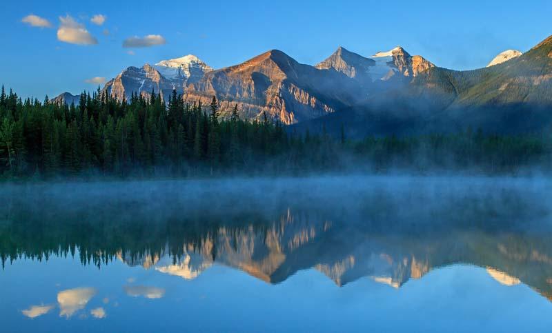 Herbert Lake au lever du soleil