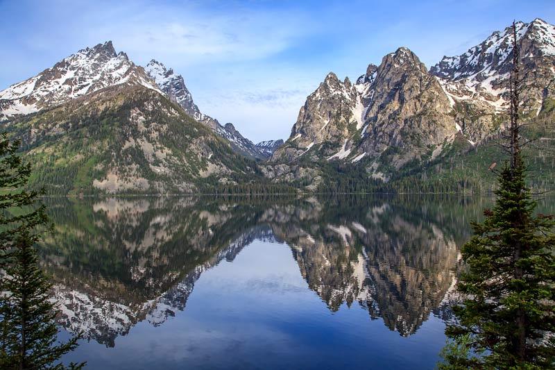 Jenny Lake au petit matin