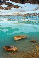 Lac Cavell et le glacier Angel