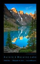 Aurore à Moraine Lake