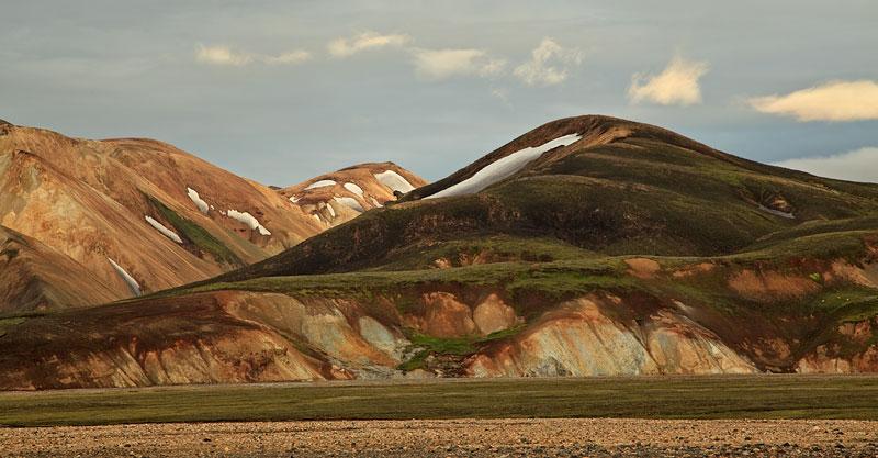 Montagnes du Landmannalaugar au coucher du soleil 1