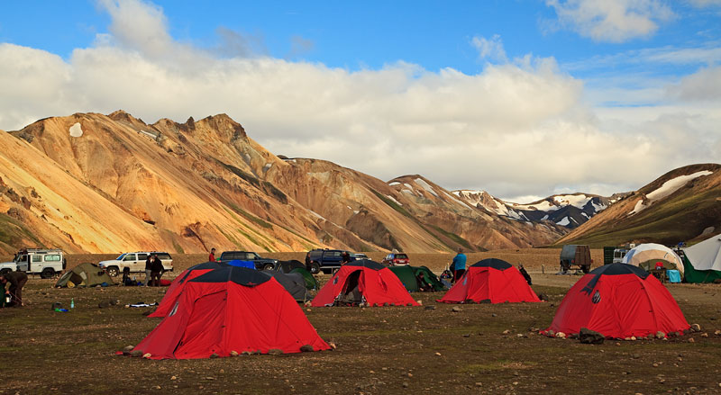Landmannalaugar - Camp de base