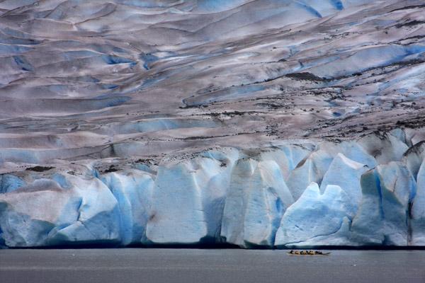 Le front massif du glacier Mendenhall