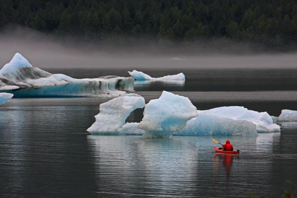 Icebergs du lac Mendenhall