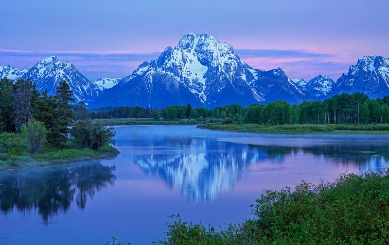 Mont Moran à l'aube