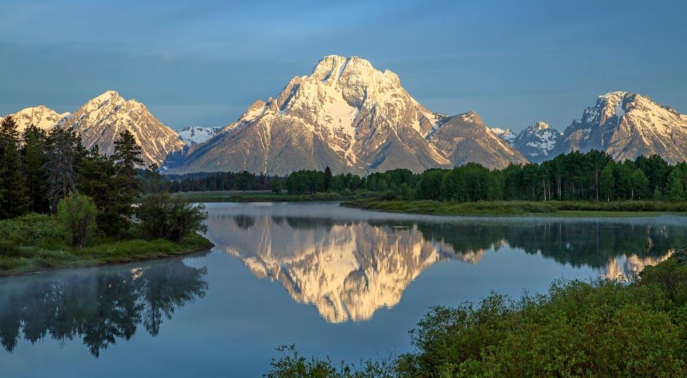 Mont Moran au lever du soleil