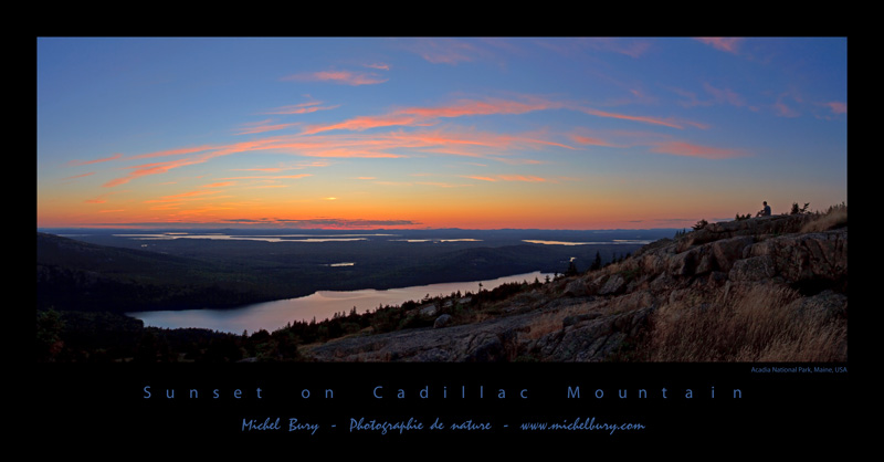 Sunset on Cadillac Mountain - Affiche