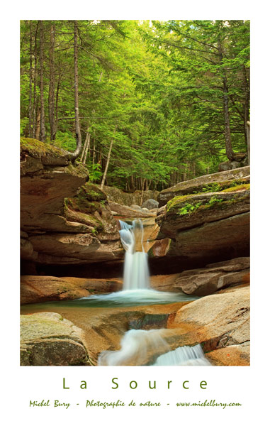 La Source - Upper Sabbaday Falls - Affiche