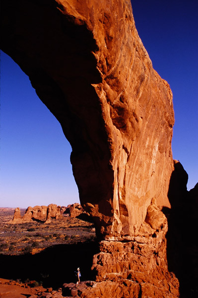Arche monumentale dans la section Windows- Arches NP, Utah