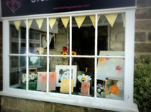 March Artist in the Window Exhibition at Studio 61 Gallery Boutique 2013