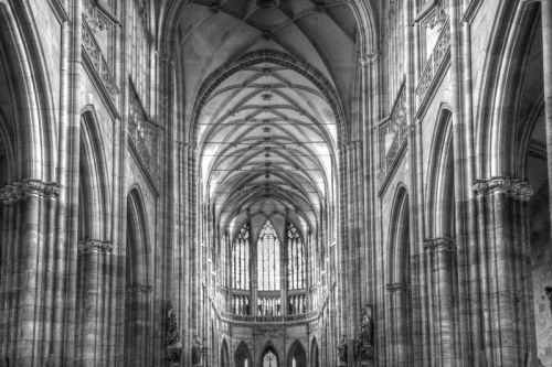 cathedral detail mono hdr