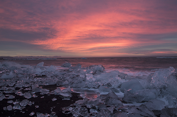 dawn jokulsarla beach