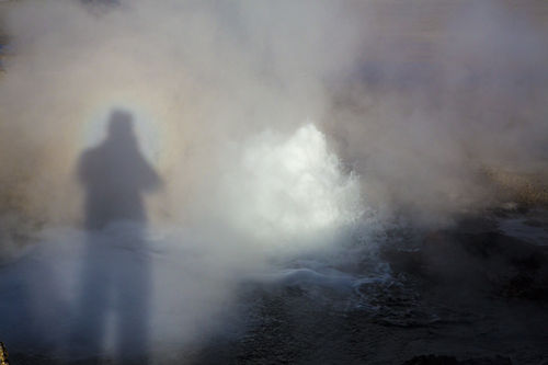 el tatio geyser with my broken spectre