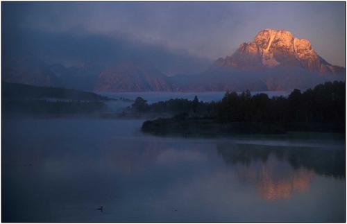 mount moran sunrise