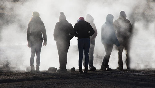 morning at el tatio geysers