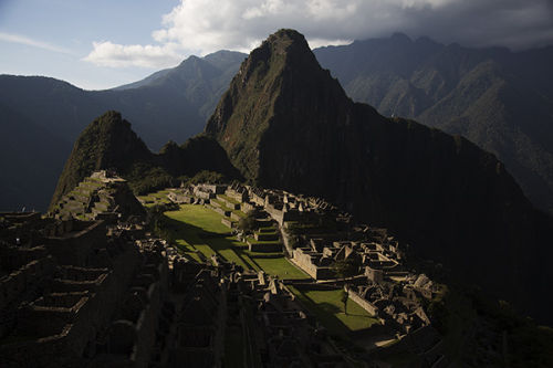 spotlight on Machu picchu