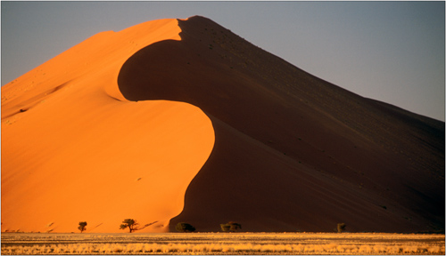 sun and shadow, namibia