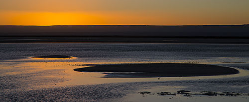 laguna chaxa sunset