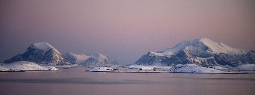 norwegian winter seascape