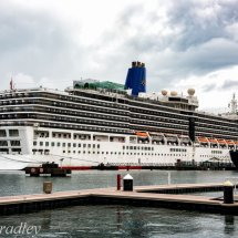 Cruise Ship Arcadia  docked Tahiti