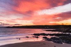 Red sunset, Dunworley, West Cork