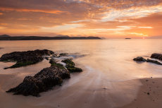 Sunset at Five Fingers strand, Inishowen, County Donegal