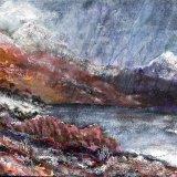 Rain Across the Loch  inspired by D Tress