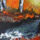Silver Birches in  Autumn SOLD