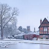 Aldbury Snow Pano