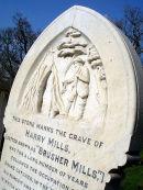 'Brusher' Mills' grave