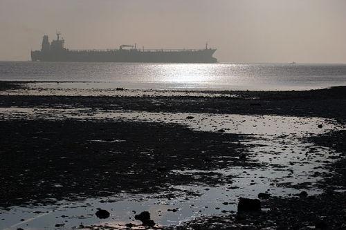 Ship and beach