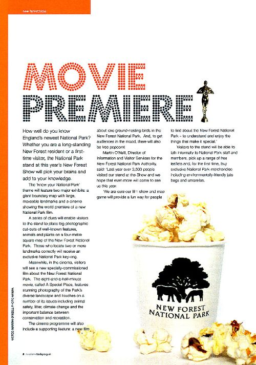 Article in New Forest Today magazine