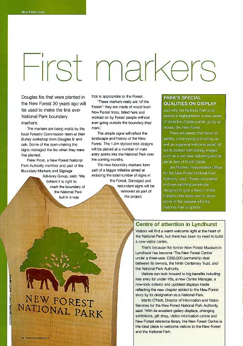 Article in New Forest Today magazine 2