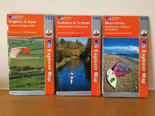 Cover photographs for Ordnance Survey maps